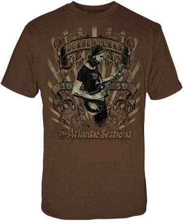 Allman Brothers - Duane Allman Atlantic Sessions - Chocolate t-shirt