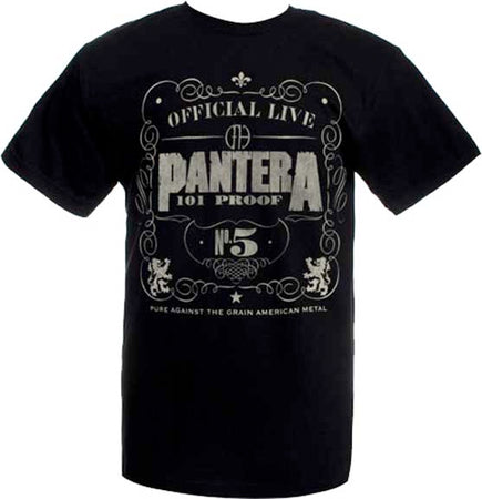Pantera - 101 Proof - Black t-shirt