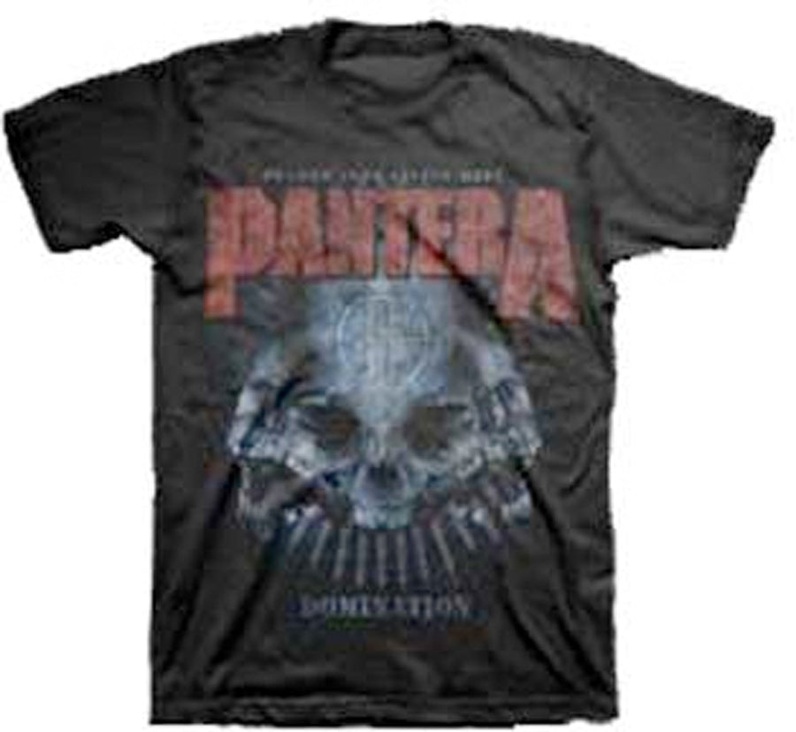 Pantera - Domination Distressed - Black t-shirt