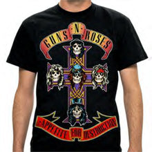 Guns N Roses - Jumbo print Appetite for Destruction - Black t-shirt