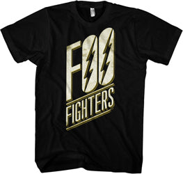 Foo Fighters - Slant Logo - Black t-shirt