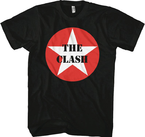 The Clash Star Logo Black T-shirt