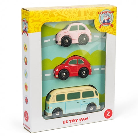 Le Toy Van Retro Cars 3pk
