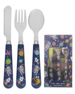 Spaceman 3pc Cutlery Set