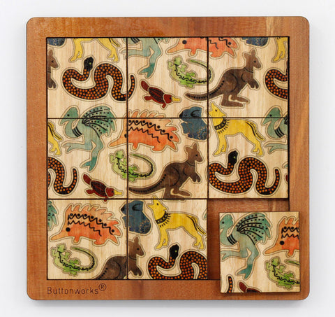 Buttonworks Coloured Animals Puzzle