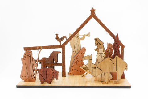 Buttonworks Nativity Scene