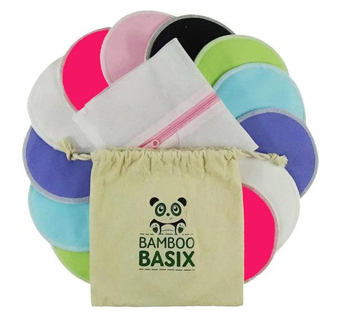Bamboo Basix Breast Pads - 7 Pairs & Washbag