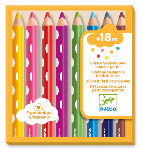 Djeco Little Ones Colouring Pencils 8pk
