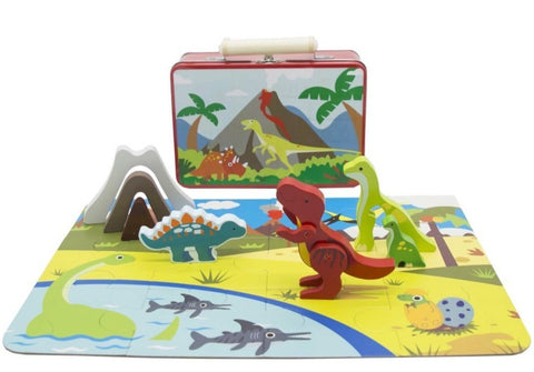 Kaper Kidz Dinosaur Playset in Tin Case