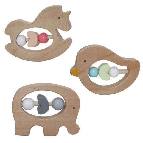 Kaper Kidz Wooden Animal Rattle