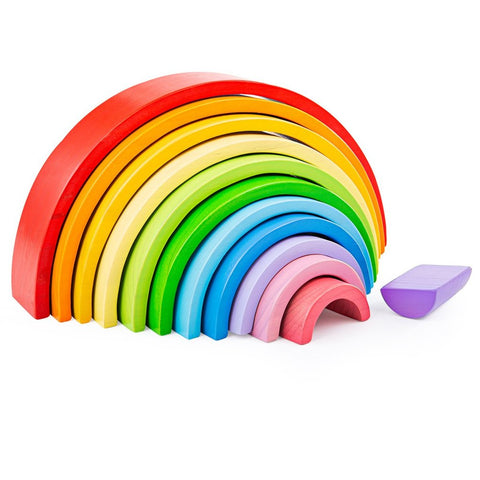 Bigjigs Large Wooden Stacking Rainbow