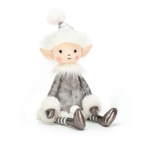Jellycat Medium Shimmer Elf (Silver)