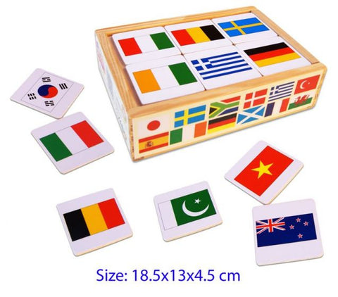 Fun Factory Wooden Flag Memory Game 48pc