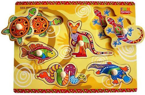 Fun Factory Aboriginal Animal Puzzle