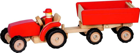Goki Red Tractor & Trailer