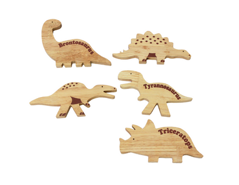 Q Toys Wooden Dinosaurs Play Set