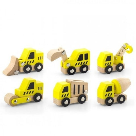 VIGA Construction Vehicles 6pk