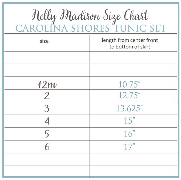 Carolina Shore Tunic Set