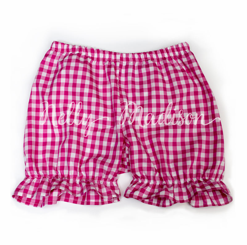 Dark Pink Gingham Bloomies