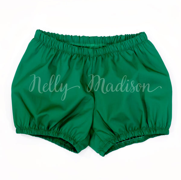 Vintage look kelly green little girl's bloomers