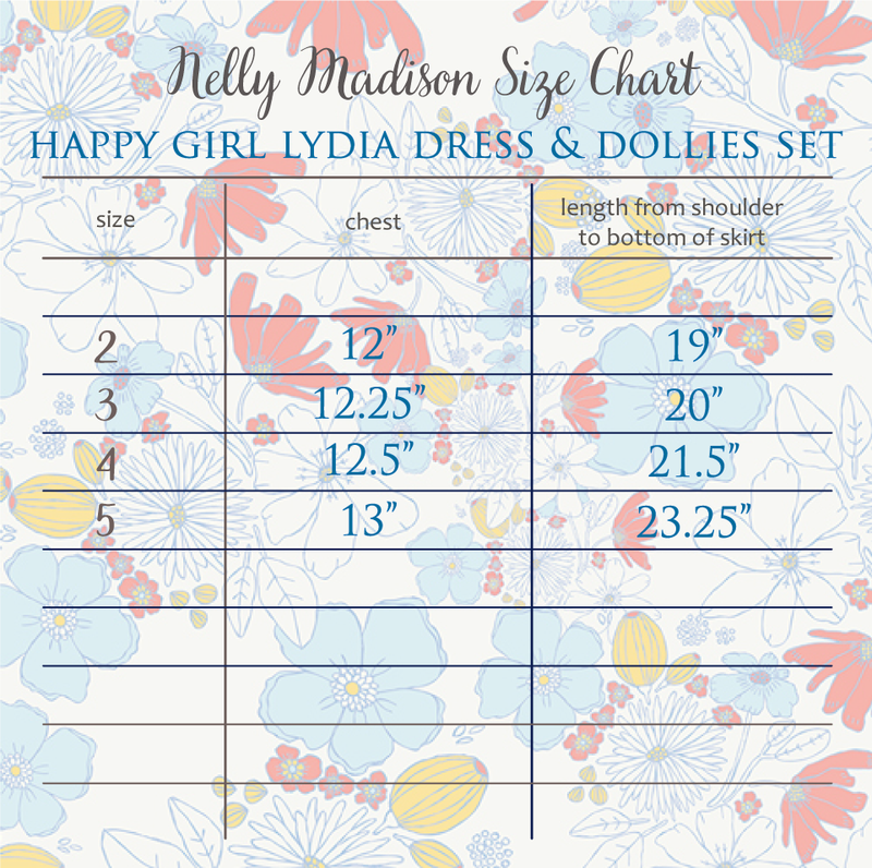 Happy Girl Lydia Dress & Dollies Set