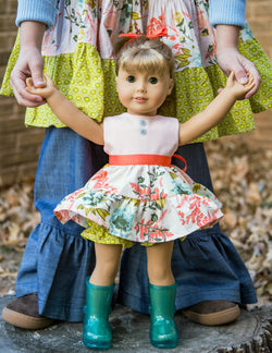 Honeysuckle Harvest Doll Dress
