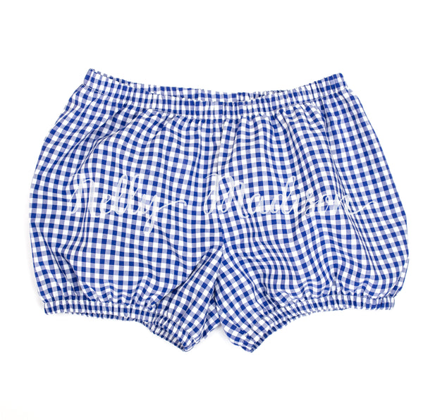 Royal Blue Gingham Dollies