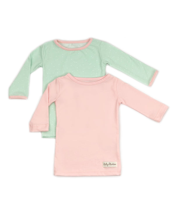 Mint Dot & Light Pink Britta Shirt Set