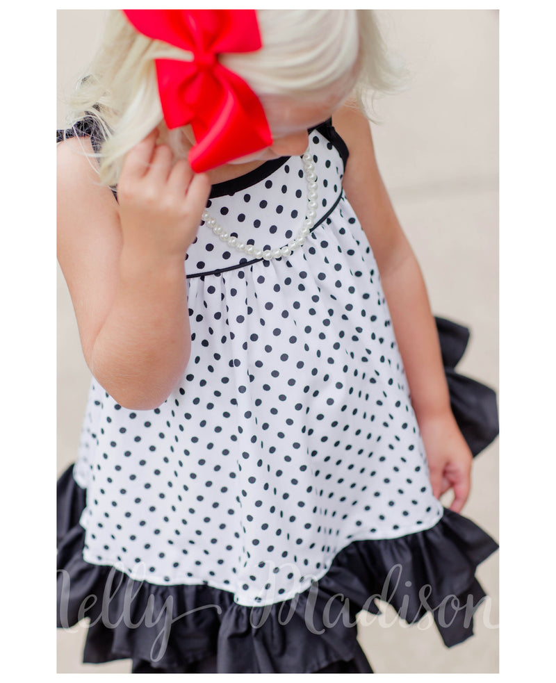 Black Polka Dot Hannah Dress