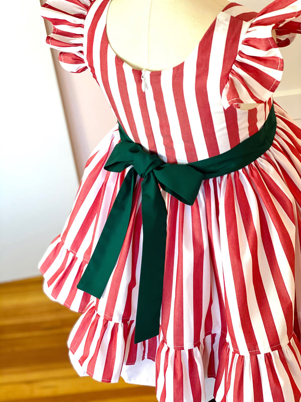 Vintage Peppermint Stick Alexandra Dress