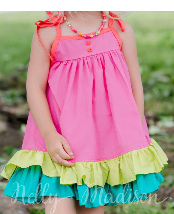 Summer Rainbow Hannah Dress