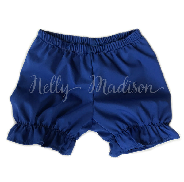 Royal blue bloomer shorts