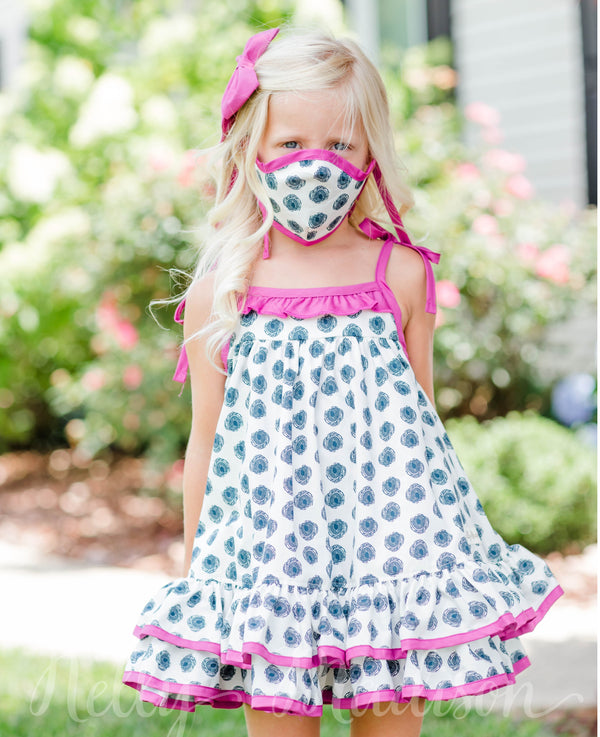Keep Smiling Hannah Dress + Mask Set