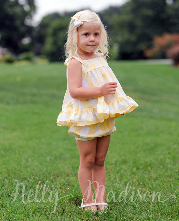 Yellow Buffalo Check Tunic Set