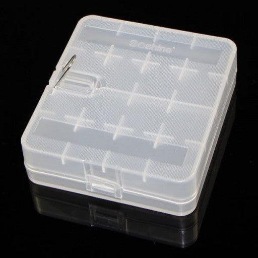 Four Bay Battery Case - Clear
