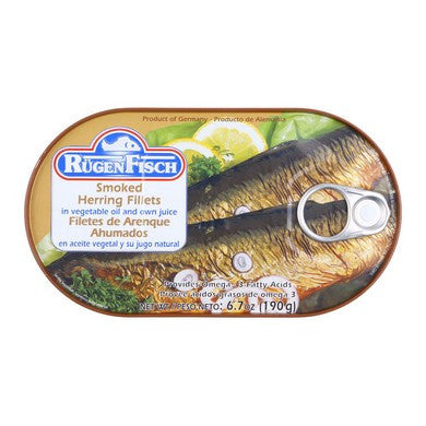 Ruegenfisch Herring Smoked Fillets in Oil 6.7oz