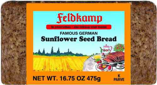 Delba/Feldkamp Breads Sunflower Bread 16.75oz
