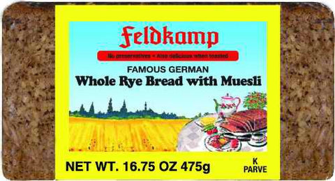 Delba/Feldkamp Breads Whole Rye/Muesli 16.75oz
