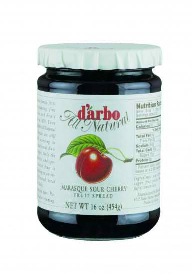 D'Arbo Preserves Marasque Sour Cherry 16oz
