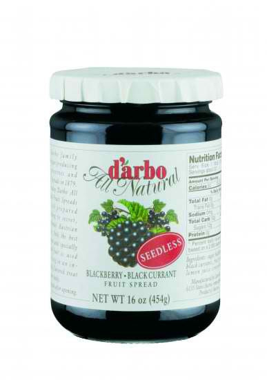 D'Arbo Preserves Blackberry Black Currant Seedless 16oz