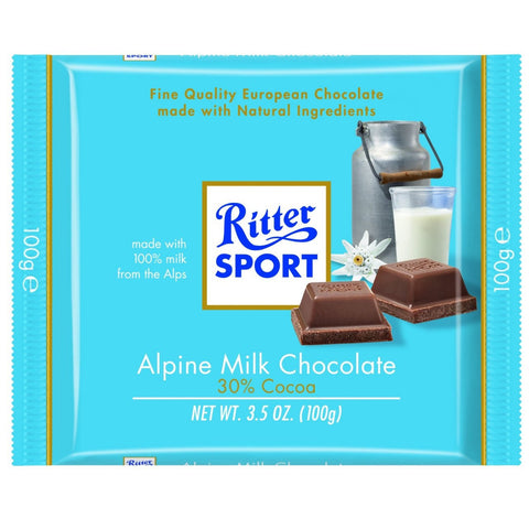 Ritter Bar Alpine Milk 12/3.5oz