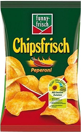 Funny Frisch Peperoni Chips in Bag 6.1oz