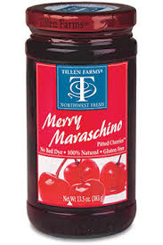 Tillen Farms Cherries Merry Maraschino. 14oz