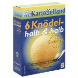 Kartoffelland 6 Half Potato and Half Bread Dumplings in Bags 7oz