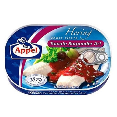 Appel Herring Fillets Tomate- Burgunder- Art 10/7oz