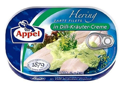 Appel Herring Fillets in Dill-Kraeuter-Creme 7oz