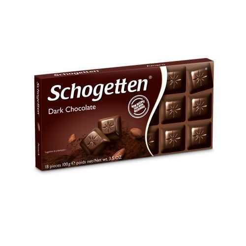 Schogetten Bars, Dark Chocolate 3.5oz. (Pack of 15)