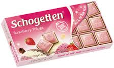 Schogetten Bars, Strawberry Joghurt 3.5oz. (Pack of15)