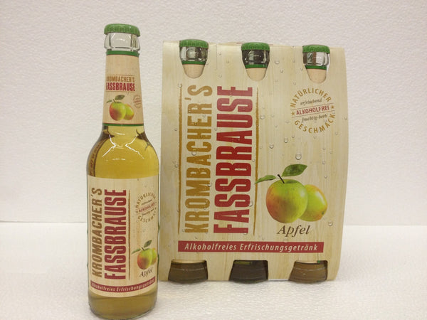 Krombacher's Fassbrause, Apple (non-alcohol) Glass Bottles 4/6X12oz