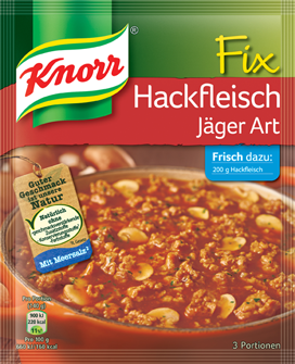 Knorr Fix Hackfleish Jaeger Art 4 bags, (20 in box)